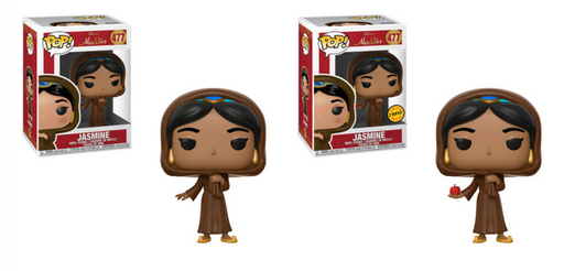 Funko POP! Aladdin - Jasmine in Disguise Common and Chase Bundle Set #477