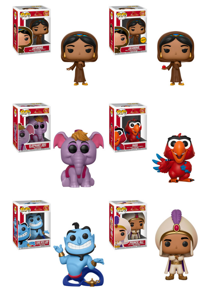 Funko POP! Aladdin - Complete Set of 6 Chase Included
