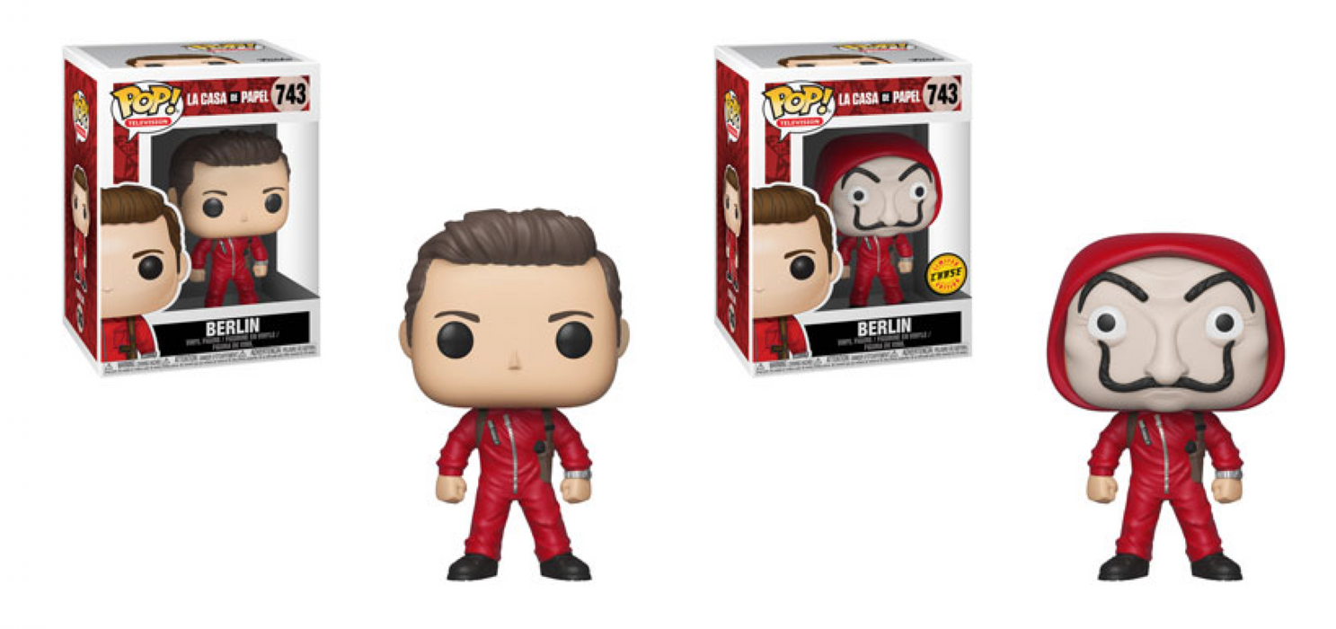 Funko POP! Money Heist (La Casa De Papel) - Berlin Common and Chase Bundle Set #743