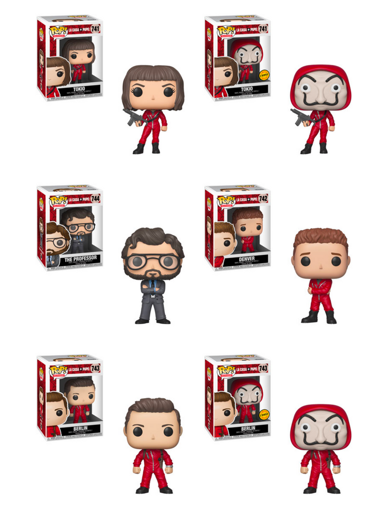 Funko POP! Money Heist (La Casa De Papel) - Complete Set of 6
