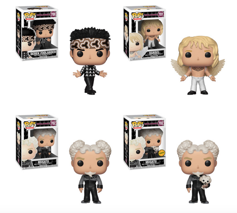 [PRE-ORDER] Funko POP! Zoolander - Complete Set of 4 Chase Included