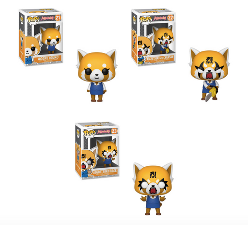 Funko POP! Sanrio: Aggretsuko - Complete Set of 3