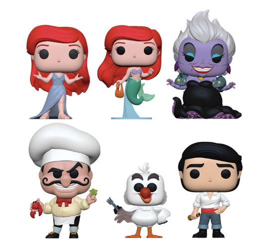 Funko POP! The Little Mermaid - Complete Set of 6