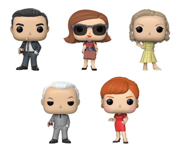 [PRE-ORDER] Funko POP! Mad Men - Set of 5