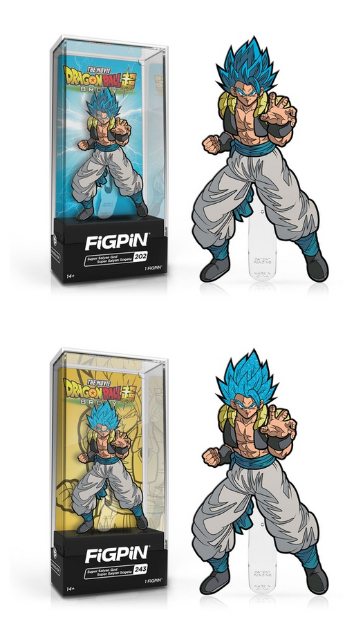FiGPiN: Dragon Ball Super: Broly - Super Saiyan God Super Saiyan Gogeta #202 #243 Common and Chase Bundle