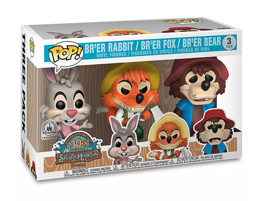 Funko POP! Disneyland: Splash Mountain 30th Anniversary - Br'er Rabbit, Br'er Fox, and Br'er Bear 3-Pack Vinyl Figures