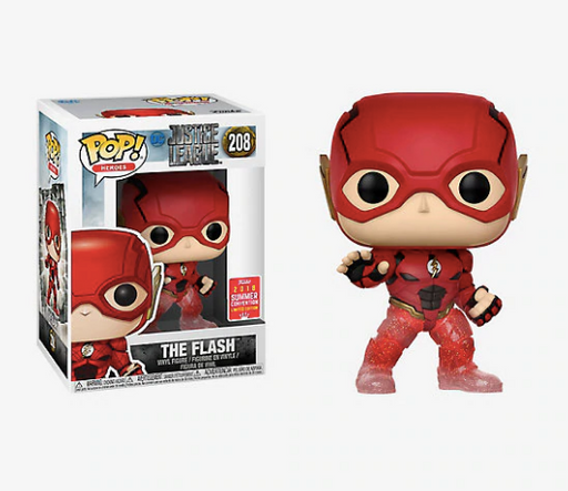 Funko POP! Justice League - The Flash (Running) Vinyl Figure #208 2018 Summer Convention Exclusive (NOT 100% MINT)