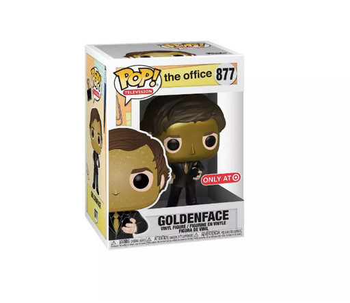 Funko POP! The Office - Jim Halpert (Goldenface) Vinyl Figure #877 Target Exclusive (NOT 100% MINT)