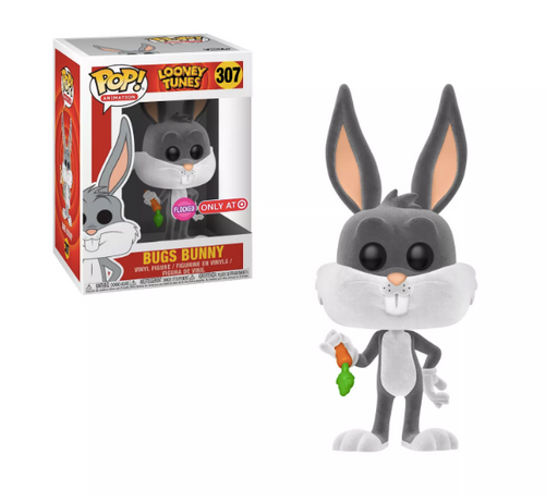 Funko POP! Looney Tunes - Bugs Bunny (Flocked) Vinyl Figure #307 Target Exclusive (NOT 100% MINT)
