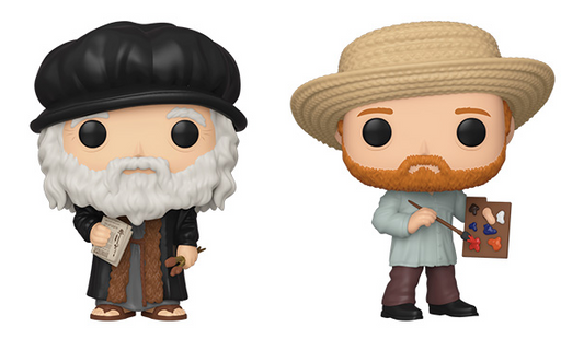 Funko POP! Artist - Set of 2 (Leonardo da Vinci & Vincent van Gogh)