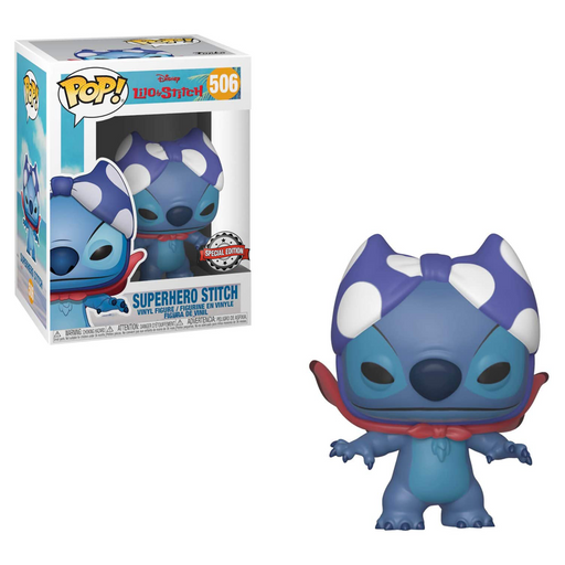 Funko POP! Lilo & Stitch - Super Hero Stitch Vinyl Figure #506 Special Edition Exclusive