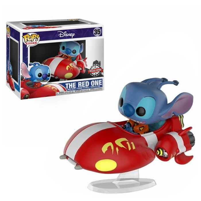 Funko POP! Rides: Lilo & Stitch - The Red One Vinyl Figure #35 Special Edition Exclusive
