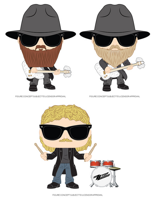 [PRE-ORDER] Funko POP! Rocks: ZZ Top - Set of 3