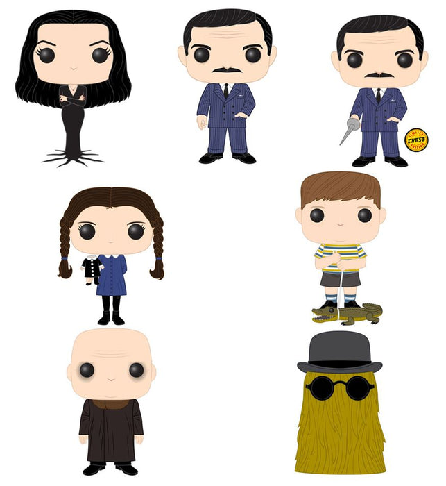 Funko POP! The Addams Family - Complete Set of 7 Chase Included