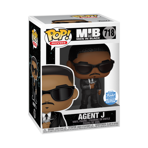 Funko POP! MIB - Agent J Vinyl Figure #718 Funko-Shop Exclusive (NOT 100% MINT)