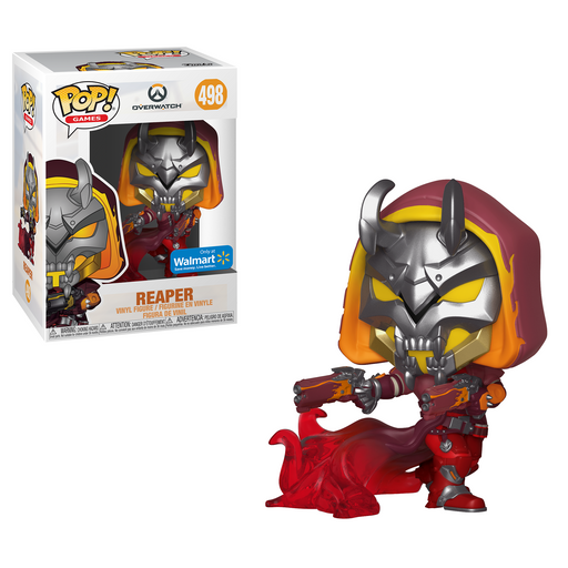 Funko POP! Overwatch - Reaper (Hell Fire) Vinyl Figure #498 Walmart Exclusive (NOT 100% MINT)