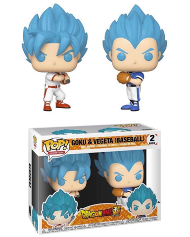Funko POP! Dragon Ball Super - Goku and Vegeta (Baseball) 2-Pack Special Edition Exclusive [READ DESCRIPTION]