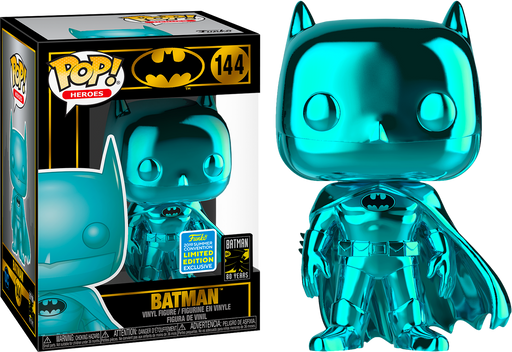 Funko POP! DC Super Heroes - Teal Chrome Batman Vinyl Figure #144 2019 Summer Convention Exclusive (READ DESCRIPTION)
