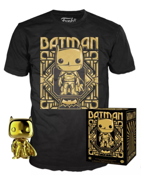 Funko POP! and Tee: DC - Batman (Gold) Collectors Box Target Exclusive (Size Small)