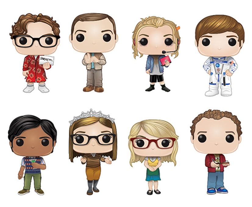 Funko POP! The Big Bang Theory - Season 2 Complete Set of 8