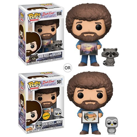 Funko POP! Bob Ross - Bob Ross with Raccoon Pop! Vinyl Figure #558