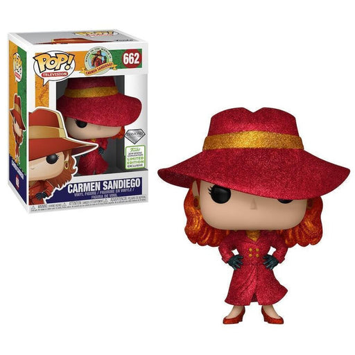 Funko POP! Carmen Sandiego - Carmen Vinyl Figure #662 (Diamond) 2019 Spring Convention Exclusive (NOT 100% MINT)