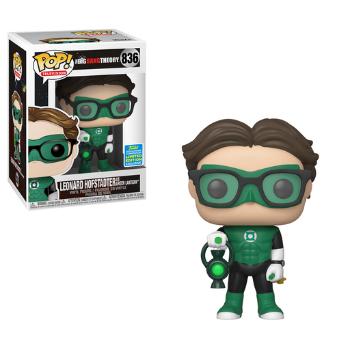 Funko POP! The Big Bang Theory - Leonard As Green Lantern Vinyl Figure #836 2019 Summer Convention Exclusive (NOT 100% MINT)