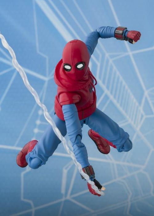 Tamashii Nations S.H. Figuarts: Spider-Man: Homecoming - Spider-Man (Home Made Suit Ver.) & Tamashii Option Act Wall