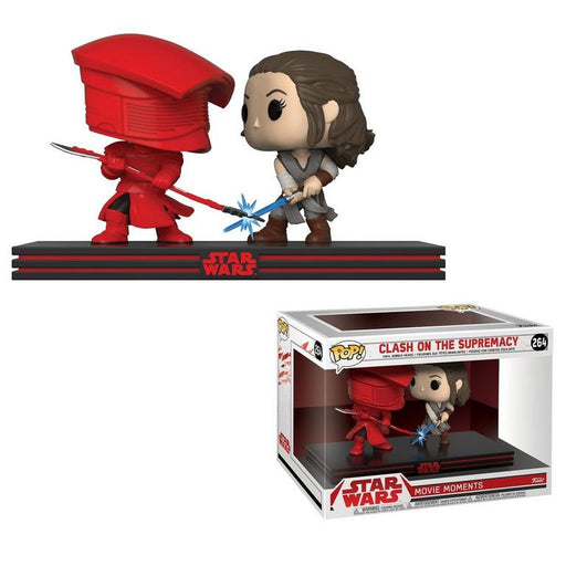 Funko POP! Movie Moment: Star Wars: Clash on the Supremacy - Rey vs Praetorian Guard Vinyl Figure #264