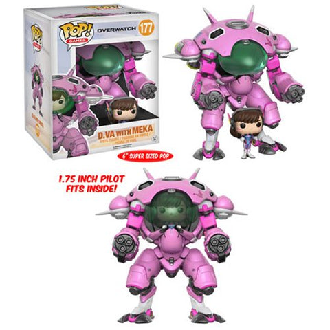 Funko POP! Overwatch - D. VA with Meka 6-Inch Vinyl Figure #177