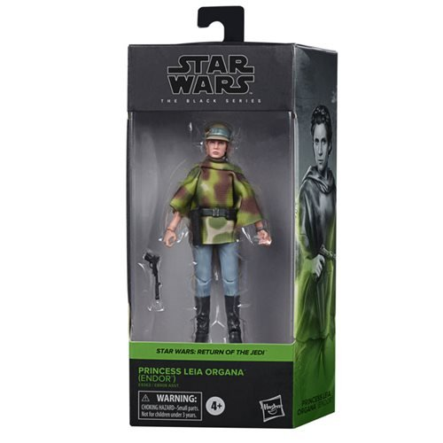 Star Wars: The Black Series - Leia Organa (Endor Battle Poncho) (Return of the Jedi) 6-Inch Action Figure