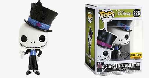 Funko POP! Nightmare Before Christmas - Dapper Jack Skellington Diamond Collection Vinyl Figure #226 Hot Topic Exclusive (NOT 100% MINT)