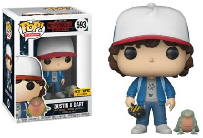Funko POP! Stranger Things - Dustin and Dart Vinyl Figure #593 Hot Topic Exclusive