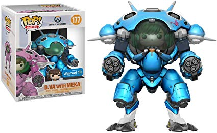 Funko POP! Overwatch - D.Va with Mekka 6-Inch Vinyl Figure #177 Walmart Exclusive