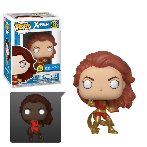Funko POP! X-Men - Dark Phoenix (Glow In the Dark) Vinyl Figure #422 Walmart Exclusive (NOT 100% MINT)