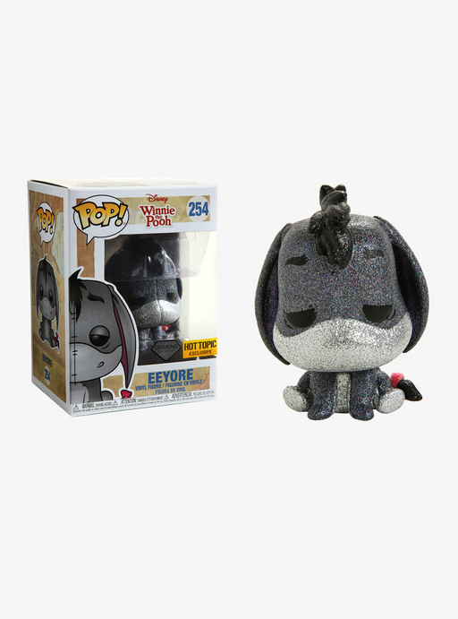 Funko POP! Winnie The Pooh - Eeyore Diamond Collection Vinyl Figure #254 Hot Topic Exclusive (NOT 100% MINT)
