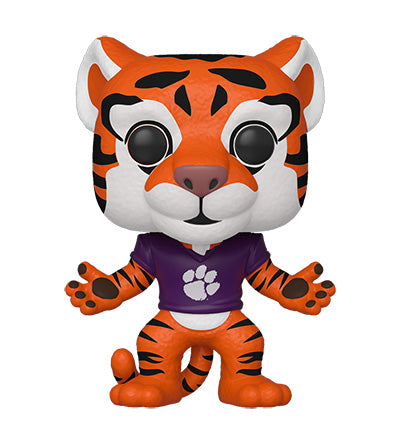 Funko POP! College: Clemson - The Tiger (Home Orange Paw Jersey) Vinyl Figure