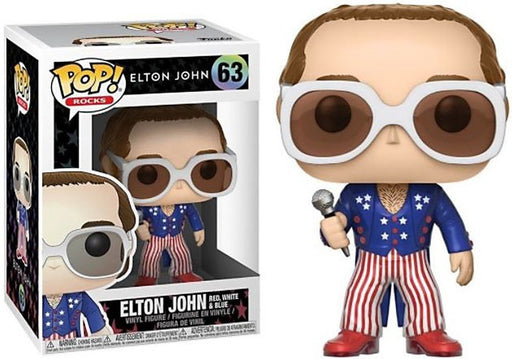 Funko POP! Rocks - Elton John (Red, White, and Blue) Vinyl Figure #63