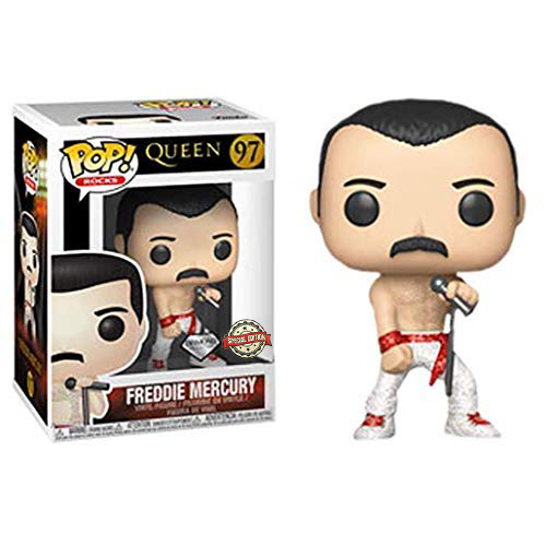 Funko POP! Rocks: Queen - Freddie Mercury (Diamond Collection) Vinyl Figure #97 Special Edition Exclusive (NOT 100% MINT)