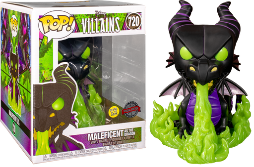 Funko POP! Disney: Villains - Maleficent as the Dragon (Metallic and Glow in the Dark) Vinyl Figure #720 Special Edition Exclusive [READ DESCRIPTION]