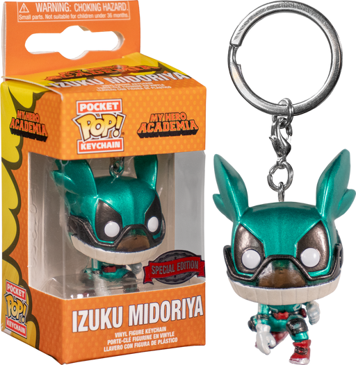 Funko POP! Keychain: My Hero Academia - Izuku Midoriya (Metallic) Pocket Keychain Special Edition Exclusive