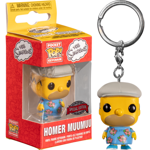 Funko POP! Keychain: The Simpsons - Homer Muumuu Pocket Keychain Special Edition Exclusive