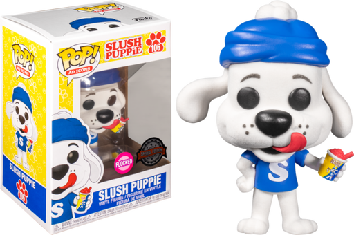 Funko POP! Ad Icons: Slush Puppie - Slush Puppie (Flocked) Vinyl Figure #106 Special Edition Exclusive [READ DESCRIPTION]
