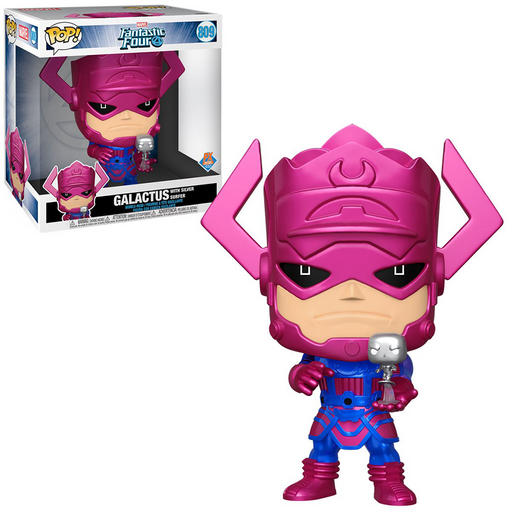 Funko POP! Fantastic Four - 10-Inch Galactus with Silver Surfer (Metallic) Vinyl Figure (PX) [READ DESCRIPTION]