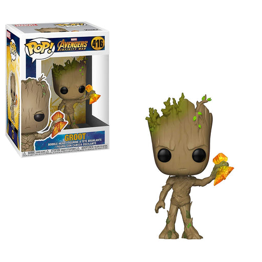 Funko POP! Avengers: Infinity War - Groot with Stormbreaker Vinyl Figure #416