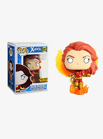Funko POP! X-Men - Dark Phoenix Vinyl Figure #413 Hot Topic Exclusive (NOT 100% MINT)