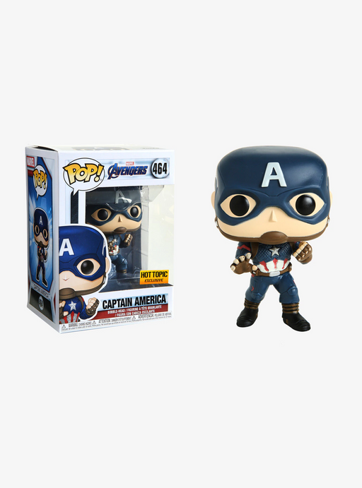 Funko POP! Avengers: Endgame - Captain America Vinyl Figure #464 Hot Topic Exclusive (NOT 100% MINT)