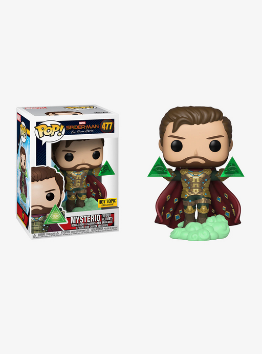 Funko POP! Spider-Man: Far From Home - Mysterio without Helmet Vinyl Figure #477 Hot Topic Exclusive (NOT 100% MINT)