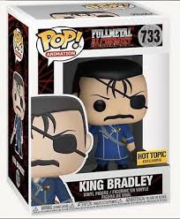 Funko POP! Fullmetal Alchemist - King Bradley Vinyl Figure #733 Hot Topic Exclusive [READ DESCRIPTION]