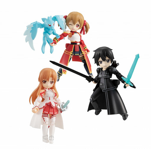Megahouse: Sword Art Online: Desk Top Army - Box of 3 Figures Asuna Kirito Shirika